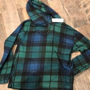 Urban Outfitters plaid Fleece hoodie